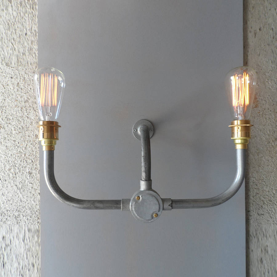 Industrial Lighting Wall Lights : industrial handlebar wall light by tony miles designs notonthehighstreet.com