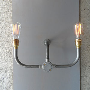 Industrial Handlebar Wall Light - wall lights