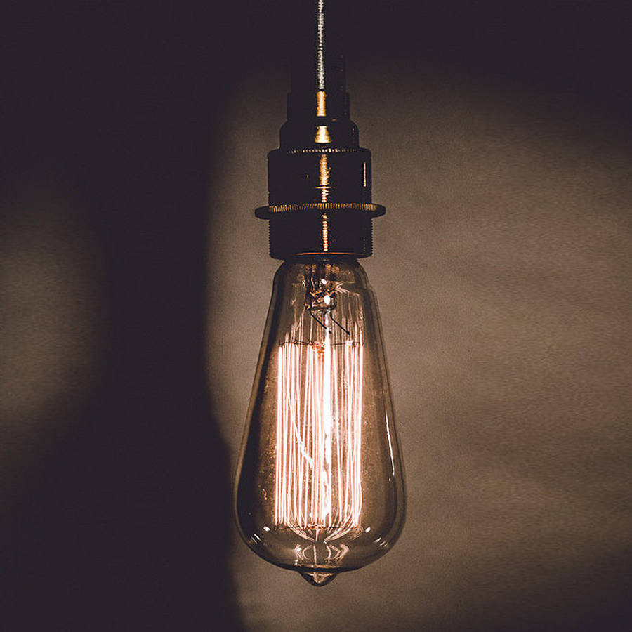 Vintage Style Edison Lightbulb By Tony Miles Designs