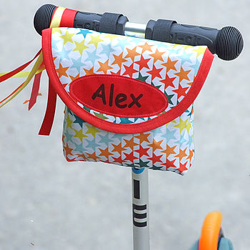 Child's Star Print Handlebar Bag