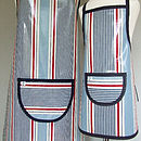 Striped Oilcloth Apron
