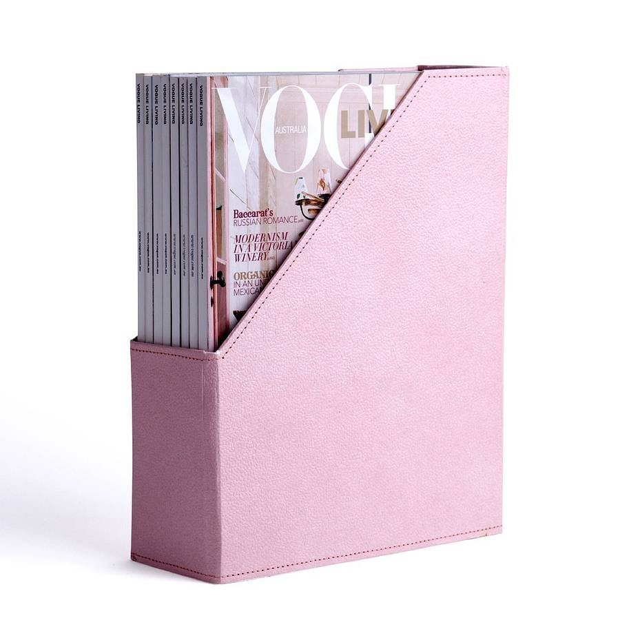 Pink Magazine Holder And Desk Tidy By Home Address