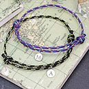 Personalised Men's Cord And Initial Bracelet