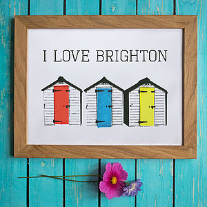 Personalised Beach Huts Print - home accessories