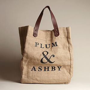 Jute Tote Bag - bags & purses