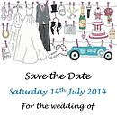 Mini Save The Date's Wedding On The Line
