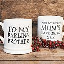 'Darling Brother' or 'Darling Sister' Mug