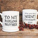 'Darling Brother' or 'Darling Sister' Mug