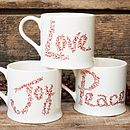 Love Joy And Peace Mug