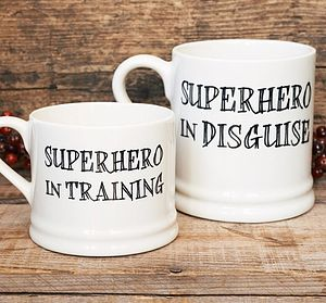Superhero Mugs - gifts for geeks