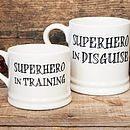 Thumb superhero mugs