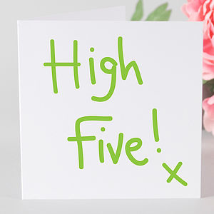 High Five Congratulations Card - graduation cards