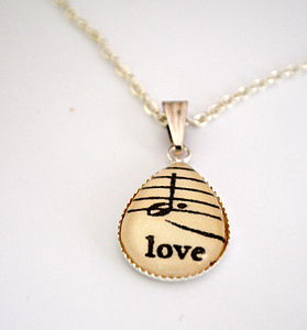 Sweet Love Pendant Music Note