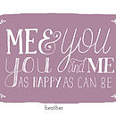 Me and you art print in Heather
