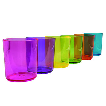 Brightly Coloured Festival Plastic Glasses