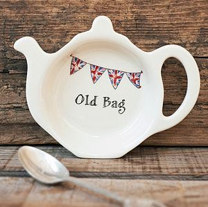 'Old Bag' Teabag Dish - gifts for her