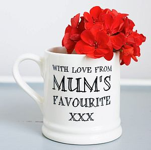 'With Love Mum's Favourite' Mug - gifts for children to give