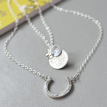 Love And Luck Silver Horseshoe Necklace