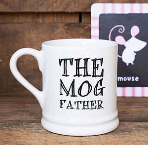 'The Mog Father' Mug - for pet lovers