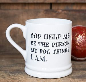 'God Help Me' Mug - for pet lovers