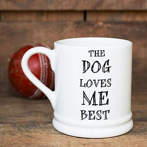 'The Dog Or Cat Loves Me Best' Mug - kitchen