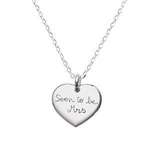 Bride's Personalised Charm Chain Necklace