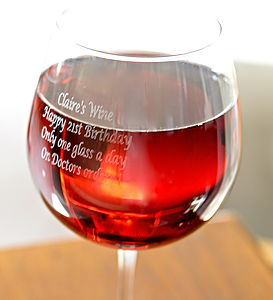 Personalised Giant Wine Glass - crockery & chinaware