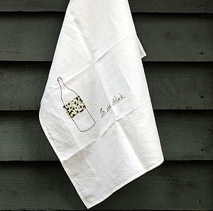 'It's Wine O'Clock' Tea Towel