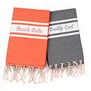 Personalised Fouta Beach Towel