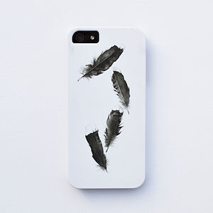 Watercolor Feather Case For iPhone