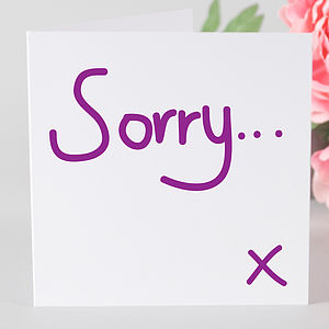Contemporary Sorry Card - sympathy & sorry cards