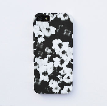Graphic Flower Case For iPhone
