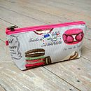 French Patisserie Macaron Cosmetic Toiletry Washbag Extra Small