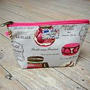 French Patisserie Macaron Cosmetic Toiletry Washbag Small
