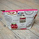French Patisserie Macaron Cosmetic Toiletry Washbag Medium