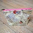 Postcard Airmail Cosmetic Toiletry Washbag Medium