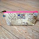 Postcard Airmail Cosmetic Toiletry Washbag Extra Small