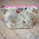 Postcard Airmail Cosmetic Toiletry Washbag Large