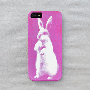 Neon Pink Bunny Print Case For iPhone - women's sale