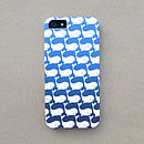 Ombre Whale Print Case For iPhone