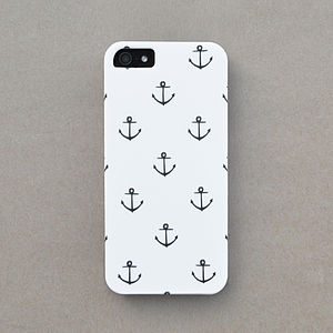 Anchor Print Case For iPhone - technology accessories