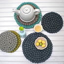 Wool Teapot Coasters