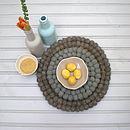 Wool Teapot Coasters