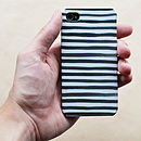 Watercolor Stripe Case For iPhone