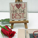You Are The Best, Cross Stitch Magnet Kit