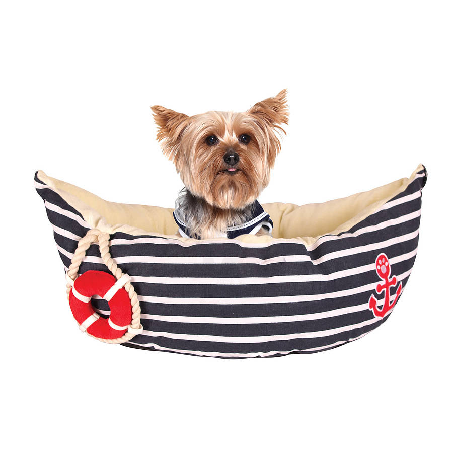 Toy Dog Bed Nautical Pet Bed By Noah S Ark
