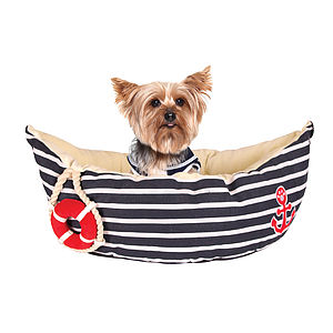 Nautical Pet Bed - beds & sleeping