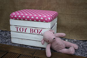 Handmade Toy Box Storage Seat - children's storage