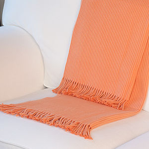 Ribbed Mandarin Throw With Fringing - throws, blankets & fabric