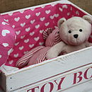 Handmade Toy Box Storage Seat